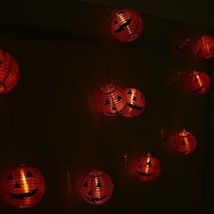Halloween Decoration Pumpkin Bat String Lights Lantern Party Outdoor Dec... - £18.14 GBP