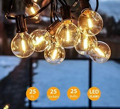 25 LED Glass Bulbs Energy Efficient, 25Ft String Lights and 1 Spare Bulb... - €26,24 EUR