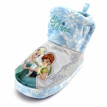 Frozen Baby Girls Slouchy Slippers Booties 3/4 6-12 Months Old - $10.00