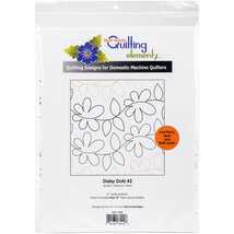 """Quilting Creations Printed Tear Away Quilting Paper 4/Pkg-Daisy Dotz 6"""" - $15.99"""