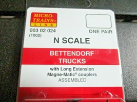 Micro-Trains Stock # 00302024 (1002) Andrews Trucks  Long Extension N-Scale image 2