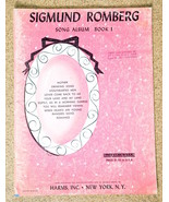 Sigmund Romberg Song Albulm Book I Sheet Music 1952 Ten Songs - $5.99