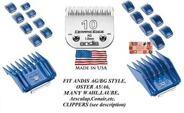 ANDIS 17 ATTACHMENT GUIDE COMB SET&CeramicEdge 10 BLADE Fit AGC,MBG,BDC ... - $89.76