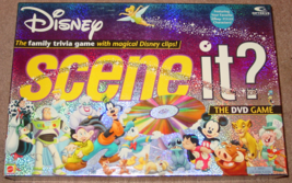 SCENE IT DVD GAME DISNEY FAMILY TRIVIA GAME 2004 MATTEL COMPLETE EXCELLENT - $30.00