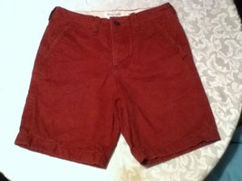 Boys-Size 14-(28)-Abercrombie-shorts-red-4 button fly opening. - $14.99