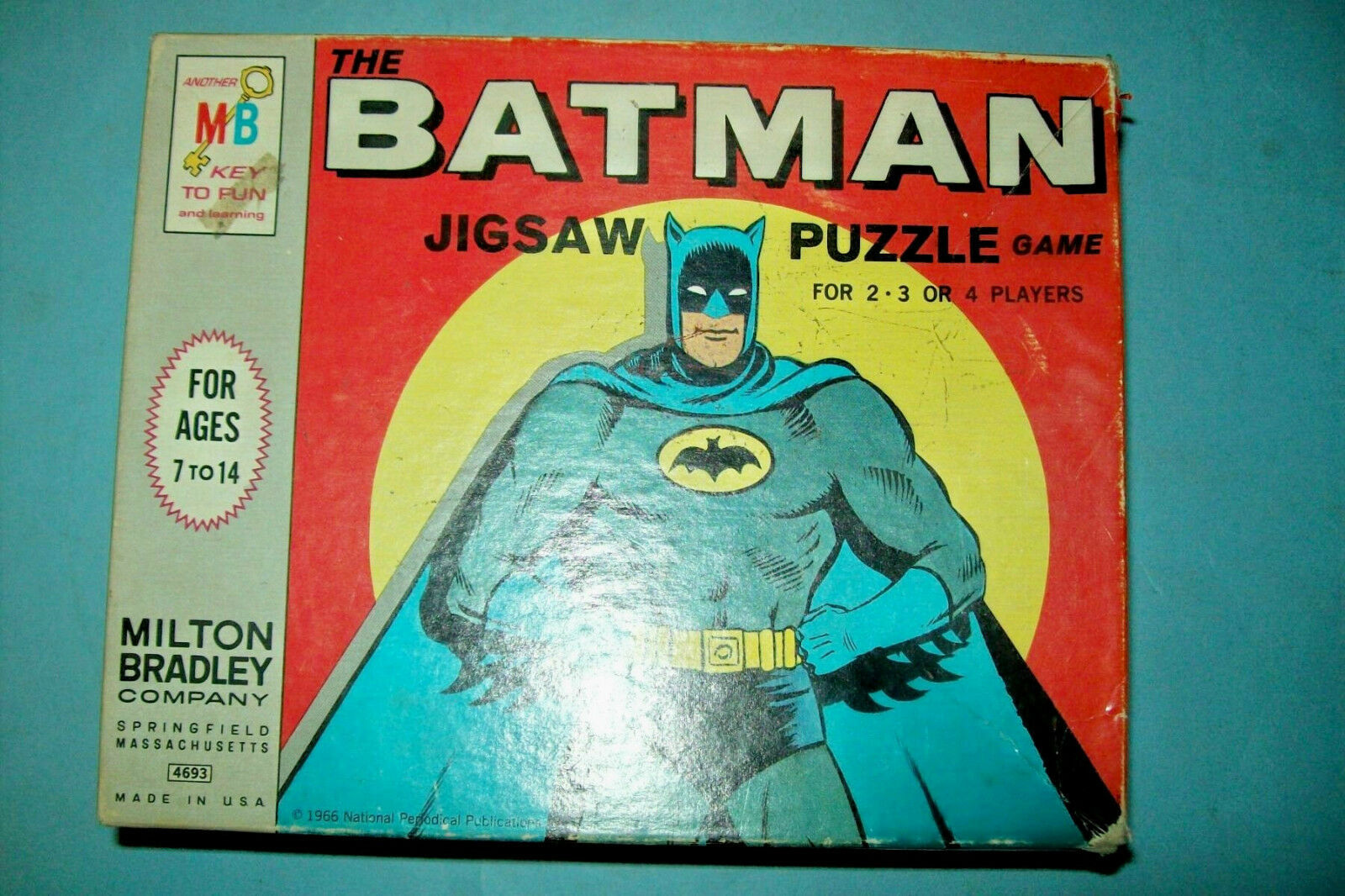 1966 The Batman Jigsaw Puzzle Game by Milton Bradley   Complete - $29.40