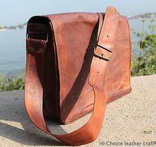 """11"""" Men's Genuine Brown Leather Messenger Shoulder I pad ,Office,Tablet Bag - $59.12"""