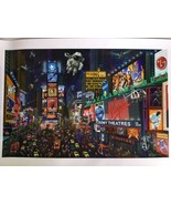 Alexander Chen Times Square Panorama Limited Edition Seriolithograph Han... - $327.25