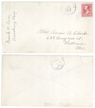 1899 Amesbury Boston MA RPO Cover to Portland ME! Massachusetts Maine - $4.94