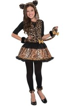 Girls Kids Sassy Spots Leopard Cat Dress Costume Medium 8-10 - $23.36