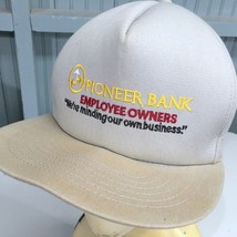 Pioneer Bank Employee Owners Snapback Baseball Cap Hat Made in USA - $13.75