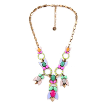 New York Mixed Charm Candy Color Cluster Necklace Brand Jewelry Free Shi... - $20.22