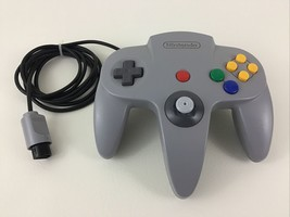 Nintendo 64 Video Game Controller Vintage Original Gray Grey N64 Authent... - $53.41