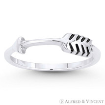 Arrow & Quill Archery Charm Adjustable Bypass Ring in Solid .925 Sterling Silver - $23.19