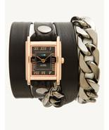 La Mer Malibu Chain Rose Gold/Black Face Wrap - $98.01