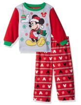 Disney Toddler Boys' Mickey Mouse Christmas 2pc Fleece Pajamas 2T 3T 4T NWT - $12.79