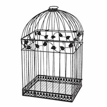 Black Metal Wedding Bird Cage Card Holder Beautiful Wedding Reception Pi... - $33.65