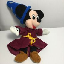 "Disney Fantasia Sorcerer Mickey Plush 9"" Stuffed Animal Bean Bag Toy Wizard image 6"