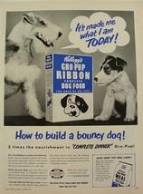 1950 FOX TERRIER & pup Kellogg's Gro-pup Dog Food Print Ad - $9.99