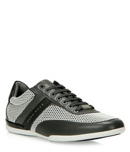 Hugo Boss Men's Premium Sport Leather Sneakers Shoes Space Lowp Air Medium Grey