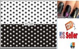 B1:Nail Art Manicure Tips Sticker w/Free 2PCS Rolls Striping Tape Line Nail Tips - $2.97