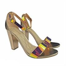Bamboo Frenzy 98S Single Band Ankle Strap Chunky Heel Sandal Women's Siz... - $26.72