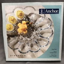 VINTAGE ANCHOR HOCKING ENTERTAINERS 10 IN DEVILED EGG PLATTER - MADE IN USA - $18.16
