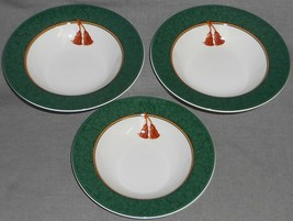 Set (3) Sakura Holiday Abundance Pattern Cereal/Soup Bowls Hallmark Home - $19.79