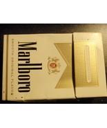 CIGARETTE BOX EMPTY PACK USA MARLBORO Gold no tax label stamp - $2.76