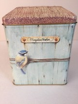 MARJOLEIN BASTIN HALLMARK Birdhouse TIN BOX Container Bird in the Nestle... - $15.29