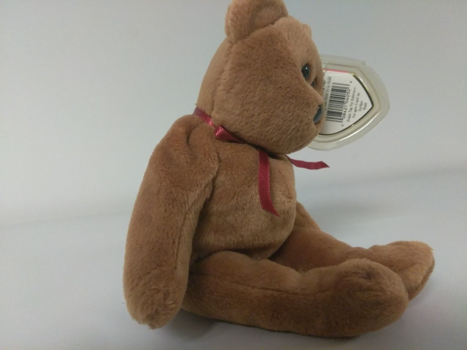 1st Edition TY Beanie Babies Rare Teddy no stamp, PVC and style line image 3
