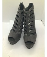 guess gray gladiator high heel shoes6.5 m - $19.80