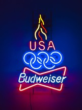 Budweiser Olympic Games Commemorative Neon Sign by Anheuser-Bush - Los A... - $225.00