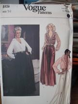 """Vintage Vogue Pattern 36"""" Bust, Blouse, Skirt, Pants-skirt 8128 UNCUT1986 - $6.99"""