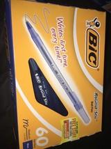 BIC Round Stic Ball Pen, Medium Point (1.0 mm), Blue, 60-Count - $11.64