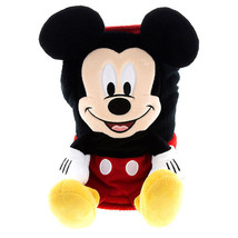 disney parks mickey mouse character cuddle plush blanket new with tags - $52.32