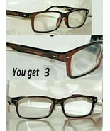 3 Pair +3.00 Foster Grant City Sights Franklin Tortoise Reading Glasses ... - $15.96