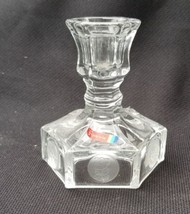 Vintage Clear Fostoria Glass For Avon Coin Glass Candle Holder - $12.00