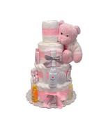 Bebe Girl Diaper Cake 4 Tiers - $135.00