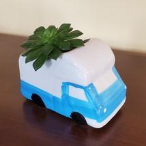 RV Planter with Succulent, Van Life Decor, Vehicle Plant Pot, Sedeveria Letizia image 6