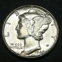 1940 10C Mercury Dime BU UNC MS BRilliant Uncirculated - $24.74
