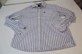 M4239 Mens American Eagle 100% Cotton white/blue Stripe Button Shirt, Size Xl - $11.65
