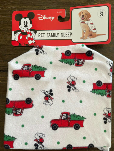 Primary image for Disney PET Family Sleep Pajama Size S Mickey w/Red Truck and Christmas Tree