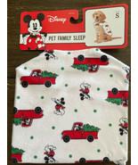 Disney PET Family Sleep Pajama Size S Mickey w/Red Truck and Christmas Tree - $10.99