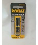 """Dewalt  Flex Torq 2"""" T40 Two Pack Impact Driver Bits N322623 DWA2TX40IR2 - $8.41"""