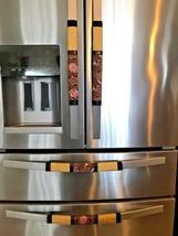 Refrigerator Door Handle Covers Set of 4 Vintage Brown Flower Theme 13LX... - $25.98