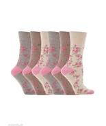 6 Pairs Womens Sockshop Cotton Gentle grip socks 4-8 uk,37-42 eu, Floral GG33 - $12.07