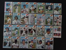 1977 Topps New York Mets Team Set of 27 Baseball Cards - $35.00