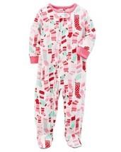 Carter's Baby Girls 1-Piece Footed Fleece Pajamas /4T/ Christmas Stockings - $9.89