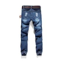 High quality men's jeans Casual  hole jeans men balmai jeans men denim trousers  image 3
